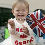 "Little Girl Wearing a ""Marry Me George"" Shirt on Royal Tour"