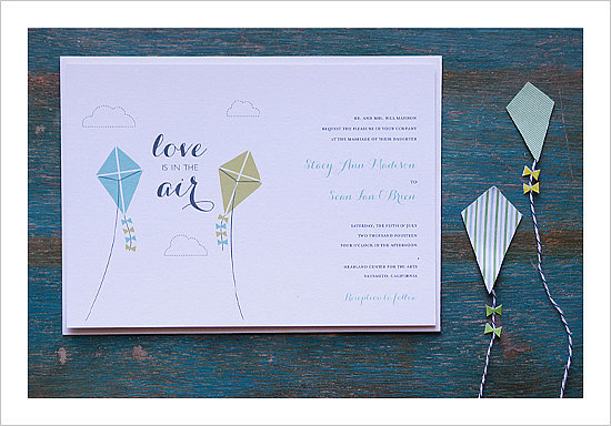 Kite Wedding Invitation