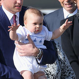 Cute Prince George Arriving in Australia