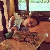 Chrissy Teigen had a love affair with racks of lamb. Source: Instagram user chrissyteigen