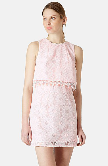 Topshop Lace Shift Dress