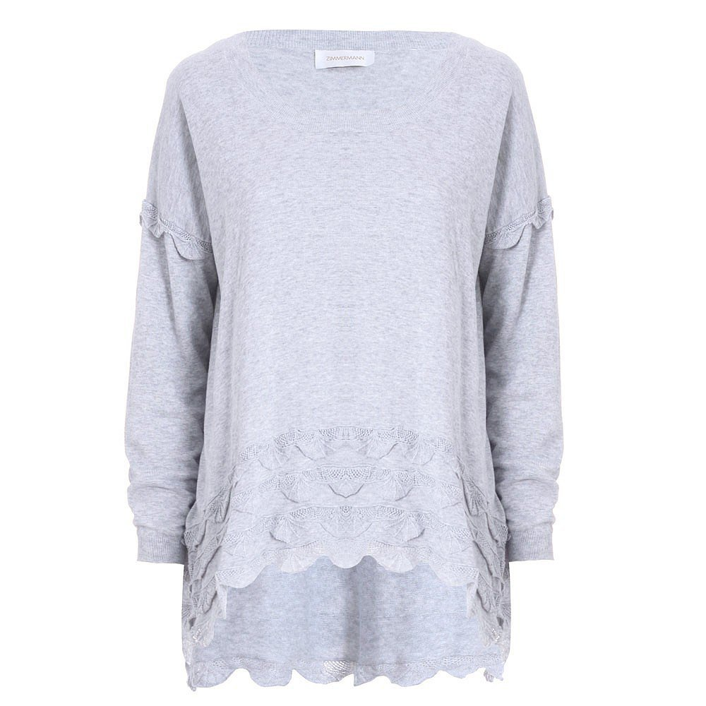 Zimmermann Scalloped Sweatshirt