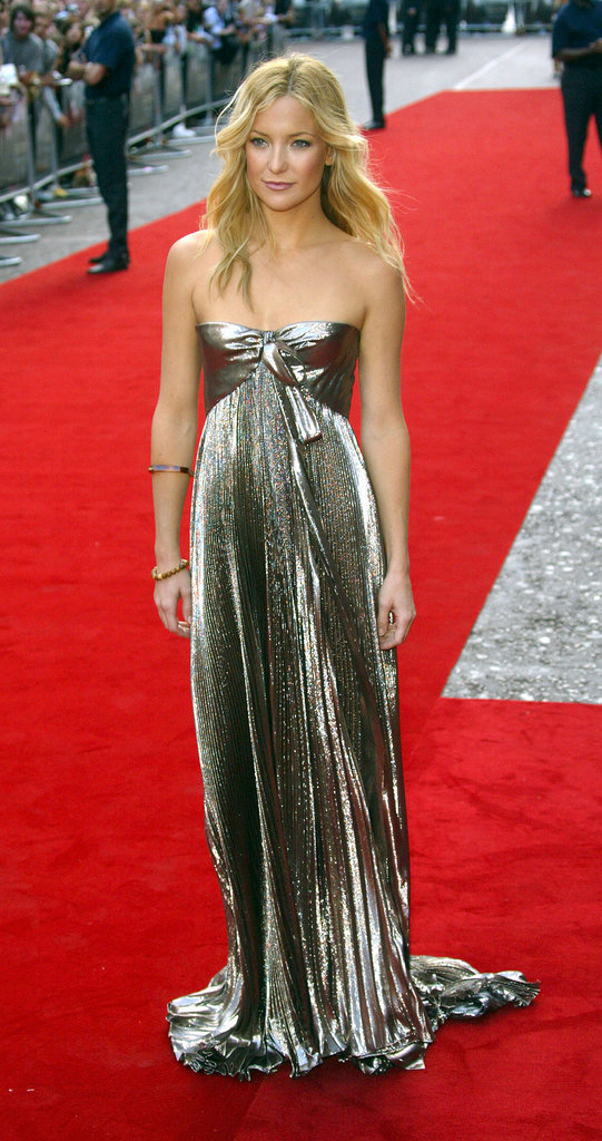 Kate Hudson in Metallic Roberto Cavalli Gown at the 2005 Skeleton Key London Premiere