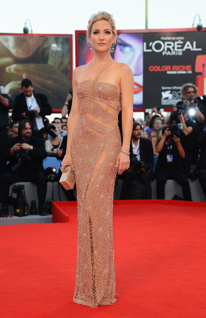 Kate Hudson in Atelier Versace at 2012 Venice Film Festival