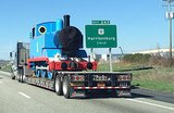 """My buddy saw Thomas the Tank Engine getting kidnapped earlier this morning."" Source: Reddit user StayCheesy via Imgur"