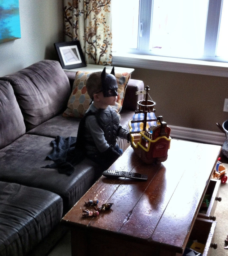 """My best friend's son, watching old school Ninja Turtles and just being 5."" Source: Reddit user curious_void via Imgur"