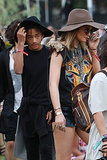 Jaden Smith stayed close to Kylie Jenner.
