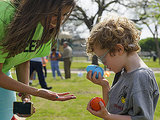 Inside the Dallas Easter Egg Hunt Specially Designed for Visually Impaired Kids