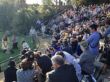 A glimpse at the press that documented Kate and William's zoo visit. Source: Twitter user byEmilyAndrews