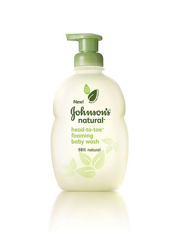 Johnson's Natural Head-to-Toe Foaming Body Wash