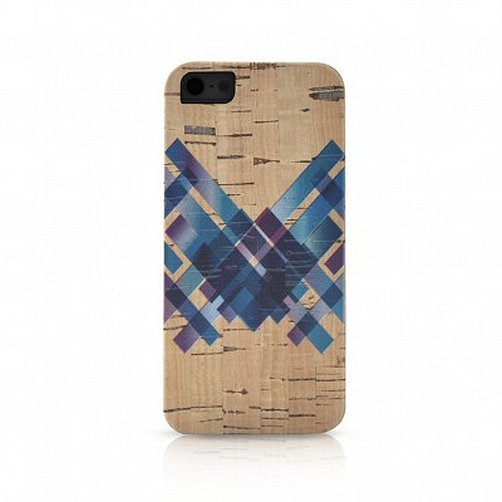 The crisscross iPhone 5/5S case ($40) is made of durable cork, a sustainable material.