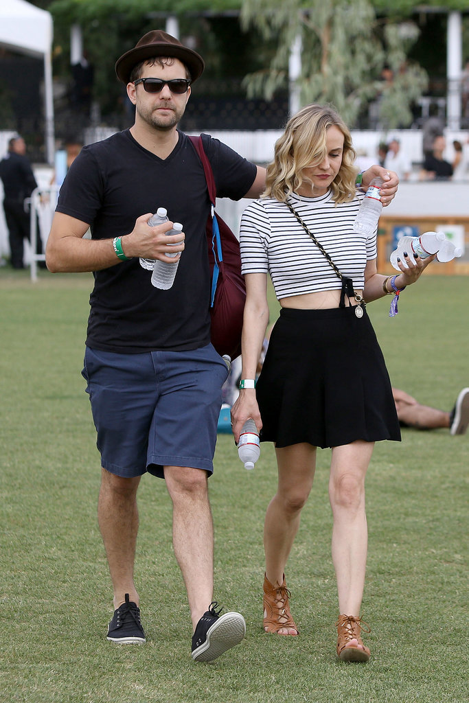 Joshua kept a close arm around Diane at Coachella in April 2014.