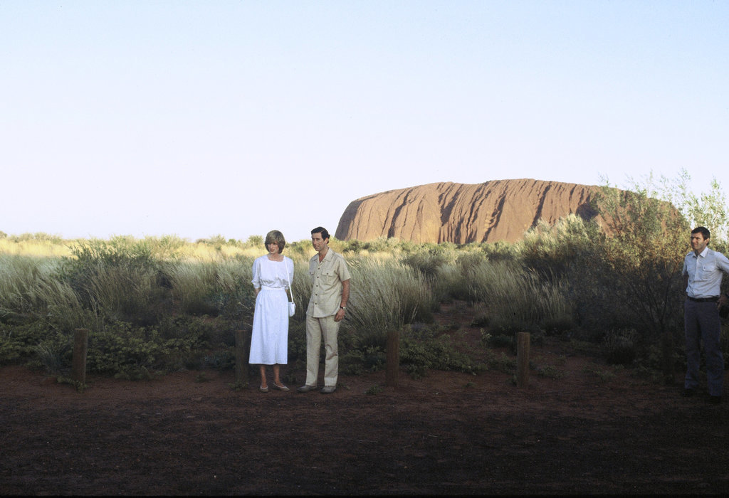 Diana and Charles Visit Ayers Rock