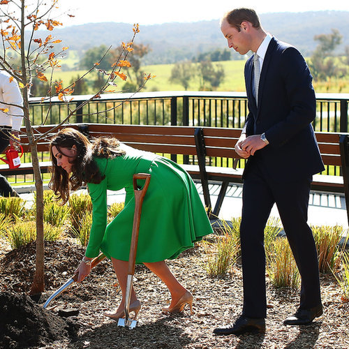 Kate Middleton and Prince William at the National Arboretum