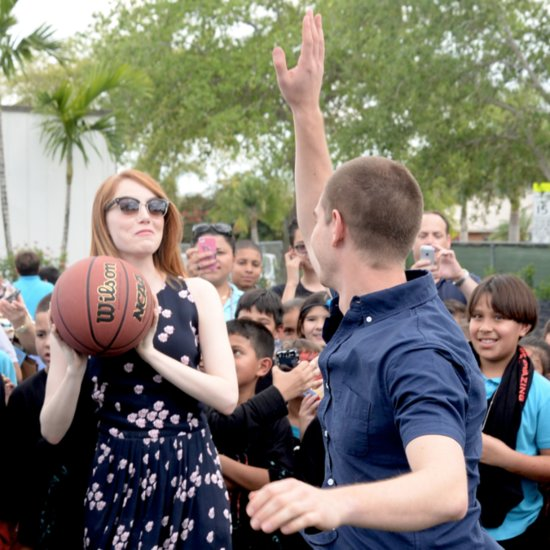 Emma Stone and Andrew Garfield at Be Amazing Volunteer Day