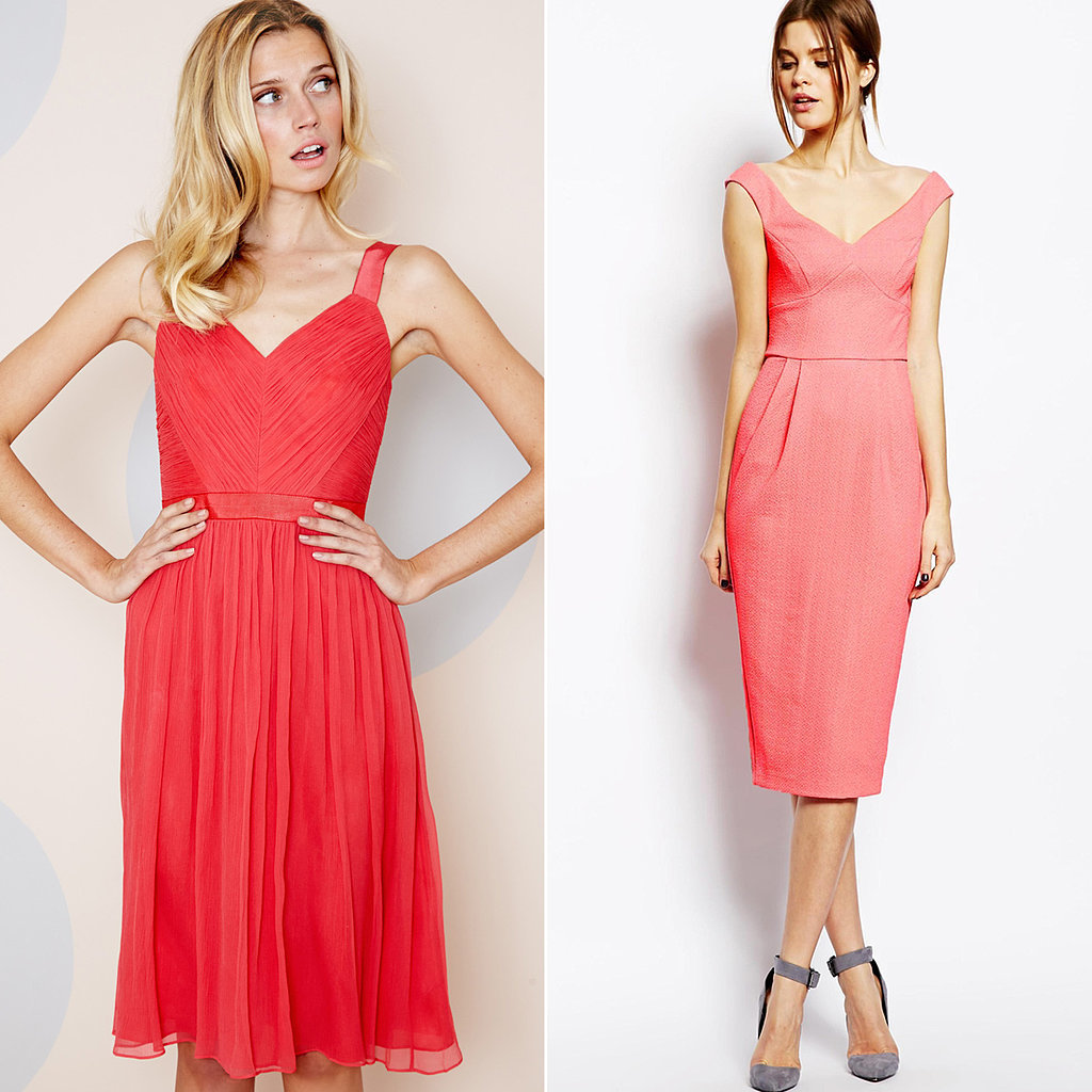 Boden While the label only has a few styles of bridesmaid dresses, they're good — and if they check all the boxes for what you're specifically searching for, it'll feel like a match made in heaven. This fruit-punch knee-length style ($298) also comes in floor length.  ASOS Whenever we're on the hunt for something specific, online giant ASOS is typically one of our first stops. With a merchandise range that's broader than broad, it makes sense that their cocktail dress section would include plenty of polished picks, like the pink dress above ($75), that would work for a bridal party.  Target Out of our top five favorite stores in the world, Target has to rank right up there. It's typically got the solution to many a retail problem, and, happily, it now also stocks simple, wedding-worthy dresses in an online section totally dedicated to bridesmaids.