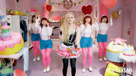 Avril Gets Her Dance on With All the Stone-Faced Background Dancers