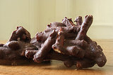 Salty Chocolate Pretzel Clusters