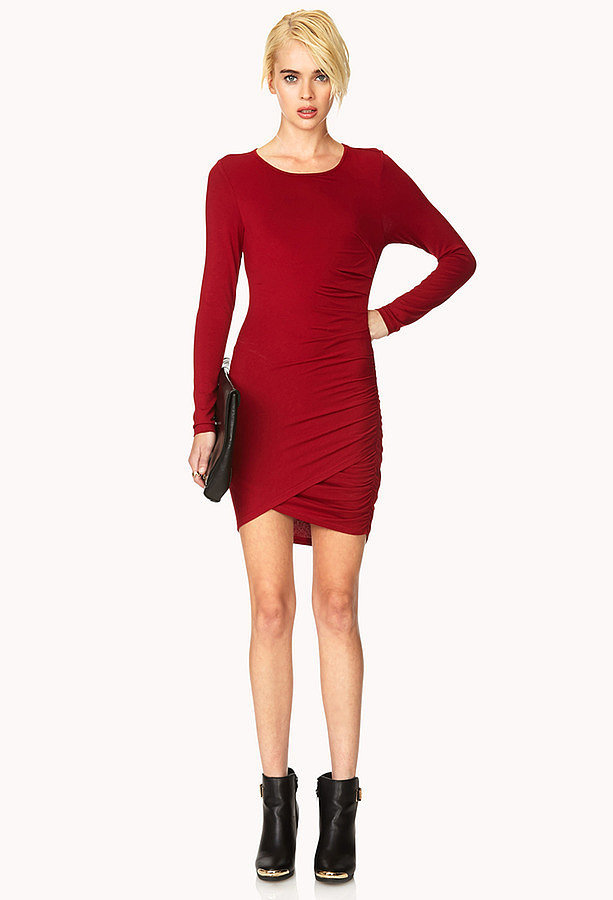 Forever 21 Red Long-Sleeve Dress