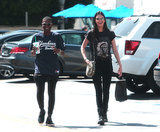 "Kendall Jenner wore a ""Yeezus"" t-shirt while going on a coffee run with a pal in LA on Wednesday."