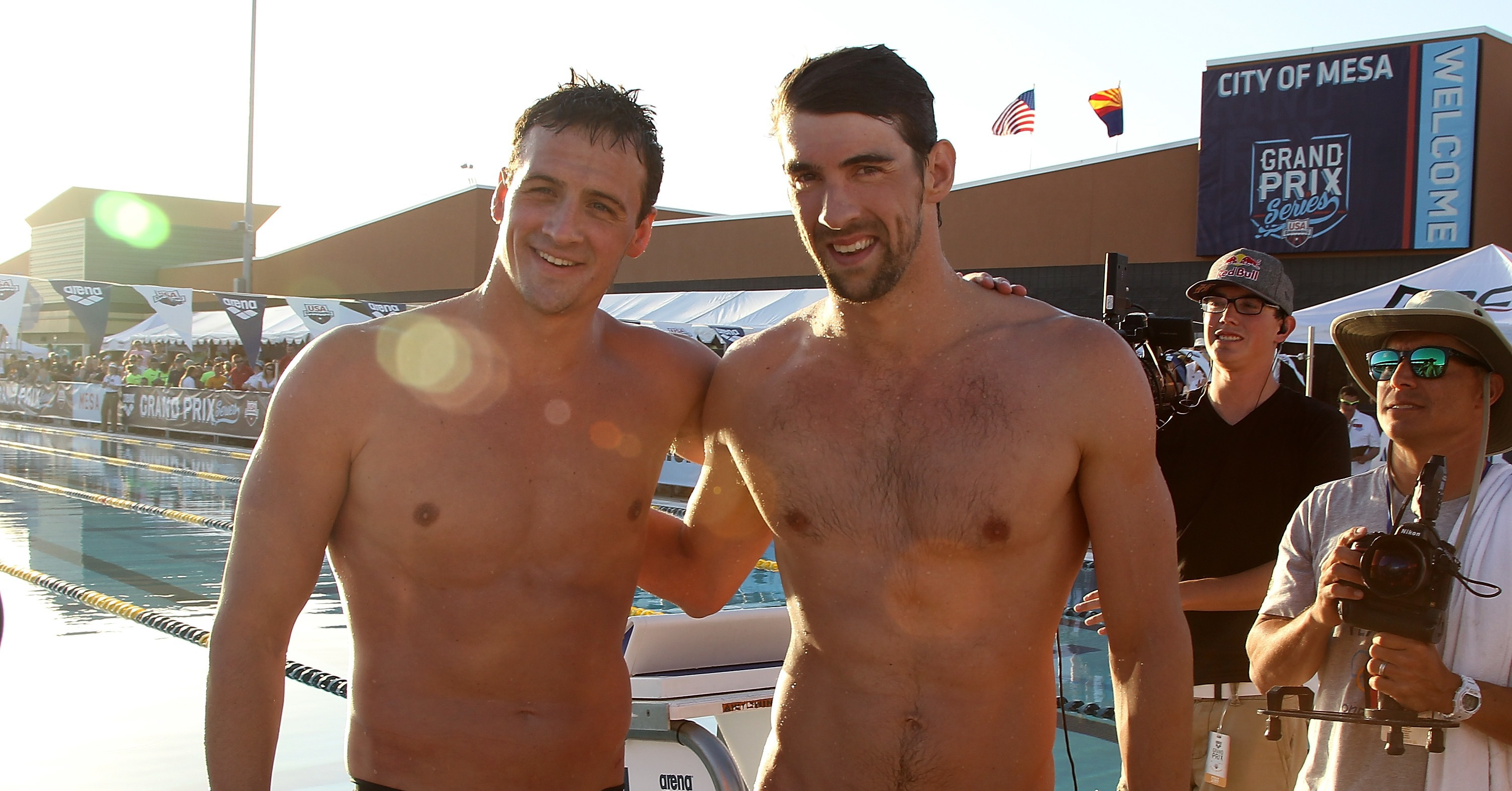 Michael Phelps and Ryan Lochte buddied up for a shirtless ...