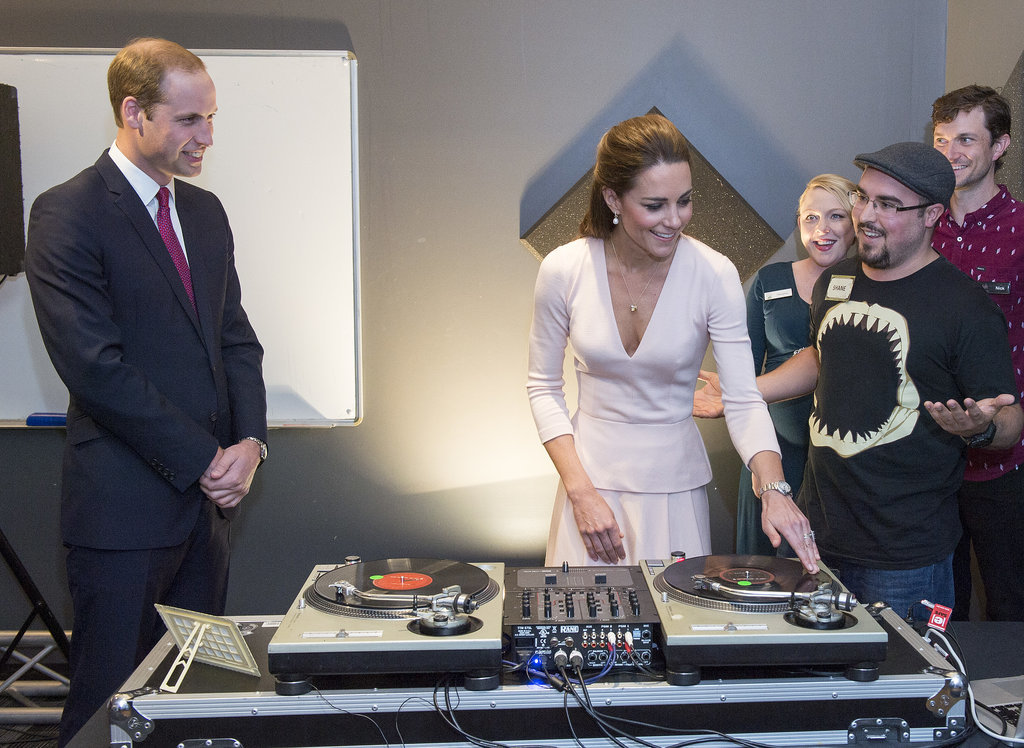 And Kate tried her hand at deejaying.