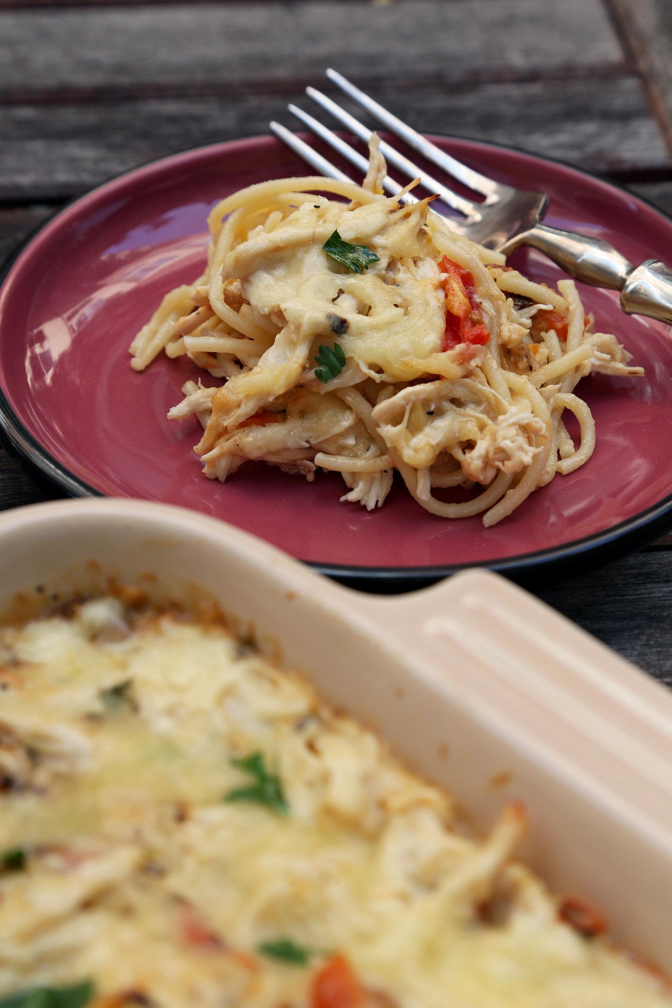 Chicken Spaghetti Casserole Recipe | POPSUGAR Food