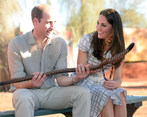 In April 2014, Kate gave Prince William the look of love while they visited the National Indigenous Training Academy in Ayers Rock, Australia.