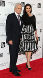 Michael Douglas and Catherine Zeta-Jones held hands on the red carpet at Monday night's Chaplin Award gala in NYC.