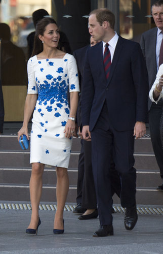 The royal couple walked and chatted together on April 19, 2014, in Brisbane, Australia.