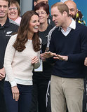 Kate laughed while listening to Will during their 2014 visit to New Zealand.