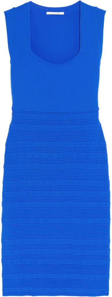 Antonio Berardi Stretch Knit Blue Body-Con Dress