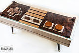 Stop everything, because compared to similar Nintendo controller coffee tables, this wood one ($395) is a steal.