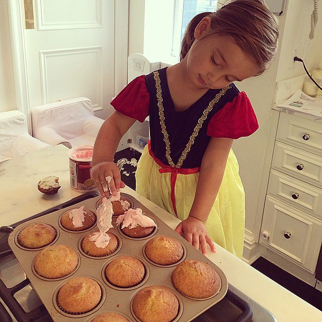 Arabella Kushner made some cupcakes to celebrate giving up her sippy cup. Source: Instagram user ivankatrump