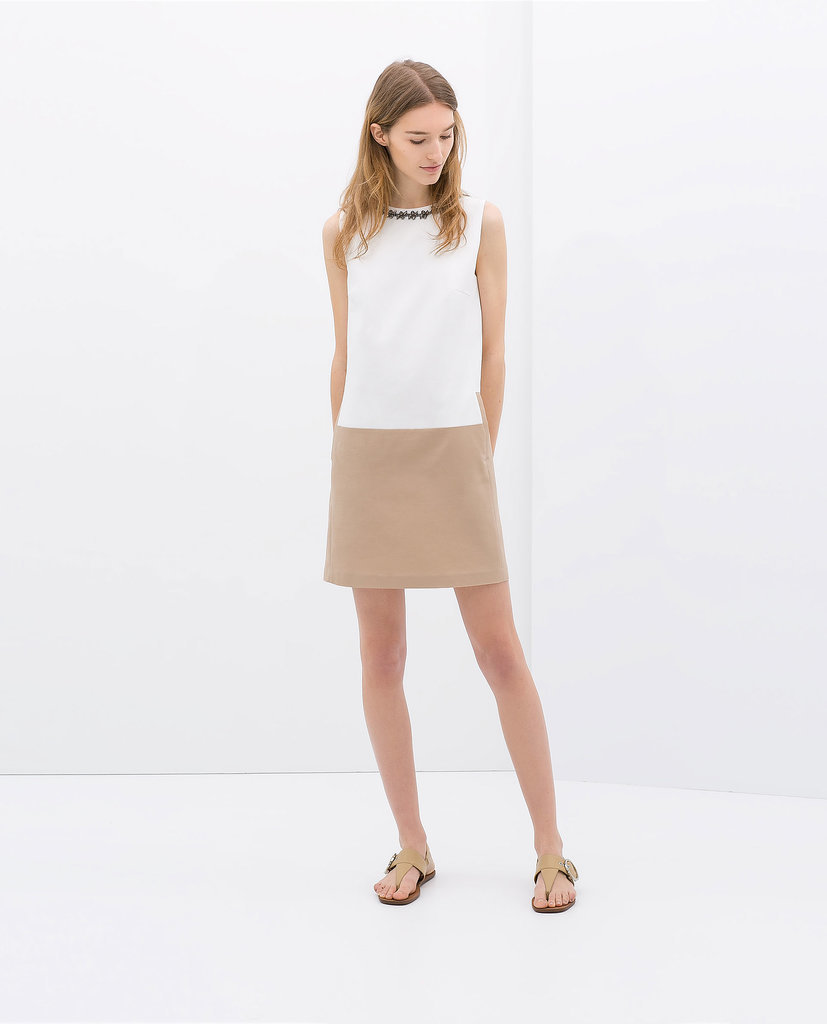 Zara Two-Tone Shift Dress