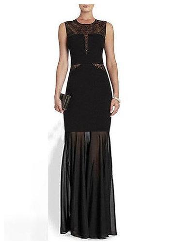 Open Back Lace Bandage Long Dress