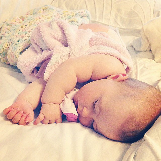"""Never wake a sleeping baby!"" — Kacie D. Source: Instagram user katmjellis"