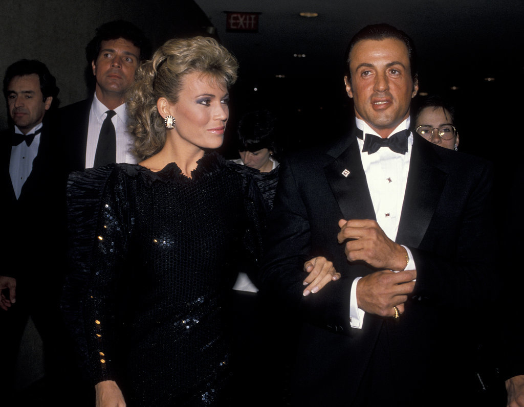 No. 2: Vanna White and Sylvester Stallone in 1988