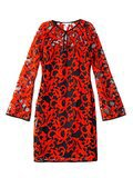 Diane von Furstenberg Black and Red Lace Dress
