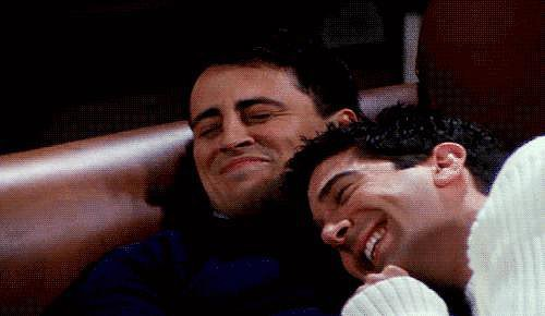 When Joey and Ross Cuddle