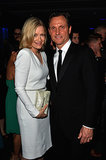 Diane Sawyer shared a moment with Tony Goldwyn.