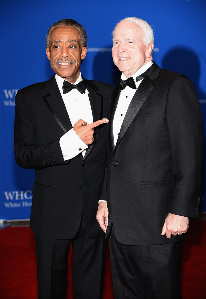 Al Sharpton and Sen. John McCain put their political differences aside and took photos together.