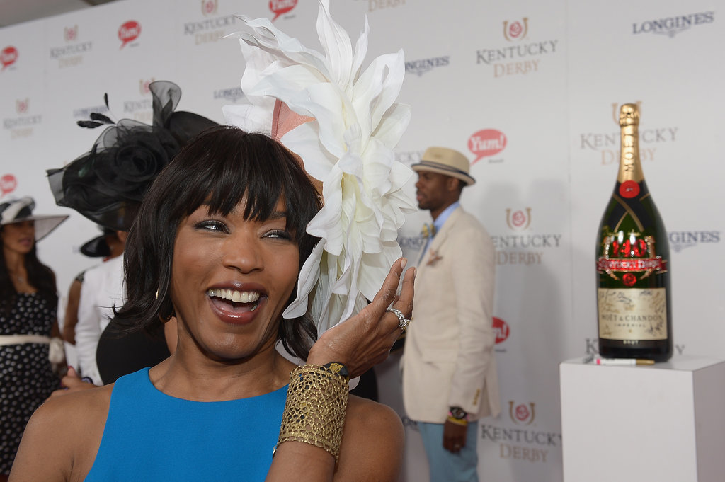 Angela Bassett got a kick out of her hat.
