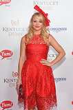 Miranda Lambert hit a high note in red at the Kentucky Derby on Saturday.