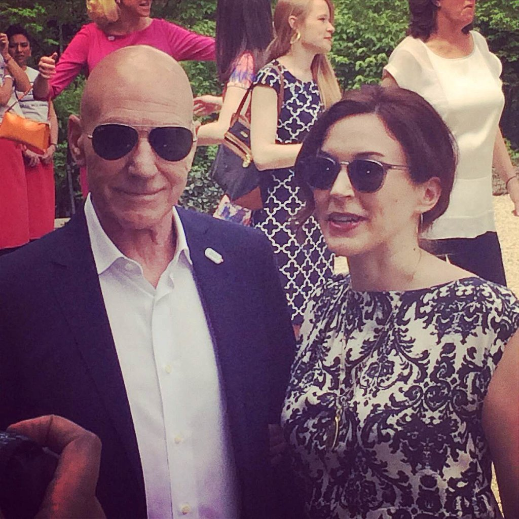 Patrick Stewart also stopped by the brunch.