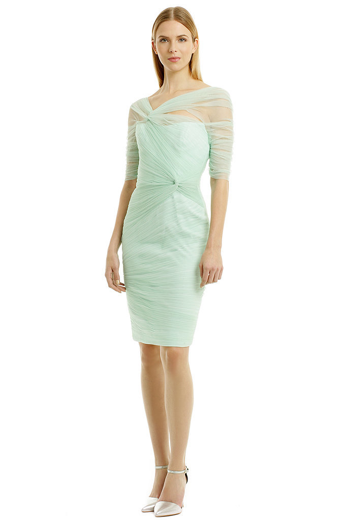 Monique Lhuillier Winter Mint Mist Dress