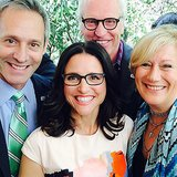 Julia made friends with actors from House of Cards, including husband and wife Michael Gill and Jayne Atkinson. Source: Instagram user officialjld