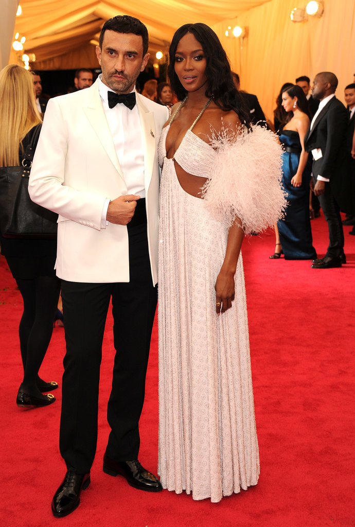 Riccardo Tisci and Naomi Campbell at the 2014 Met Gala