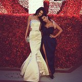 Kendall Jenner and Kim Kardashian had a sweet sister moment. Source: Instagram user kendalljenner