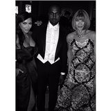 Kim and Kanye made sure to pose with Anna Wintour, who put them on the now-infamous April cover of Vogue. Source: Instagram user kimkardashian
